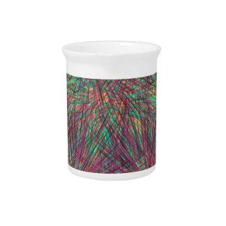 Strange colorful pattern pitcher