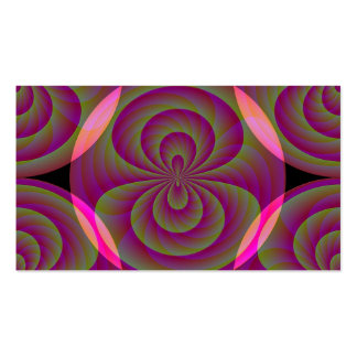 Strange Eight - Weird Pink Abstract Pack Of Standard Business Cards