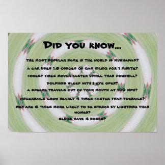 strange facts poster