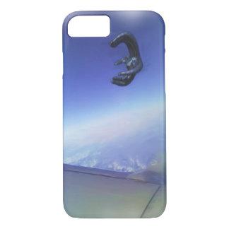 Strange flying object outside iPhone 7 case