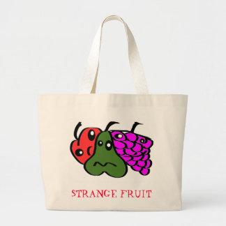 Strange fruit large tote bag