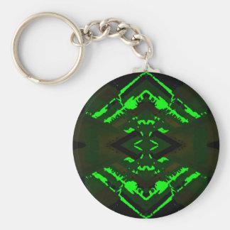 Strange Green Alien Design Keychains