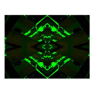 Strange Green Alien Design Postcard