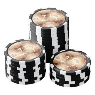 Strange hexagon shapes pattern poker chips