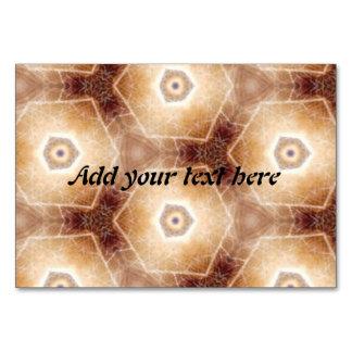 Strange hexagon shapes pattern table card