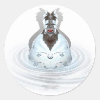 Strange HorseMan Round Sticker