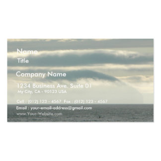 Strange Island In Fog Business Card Template