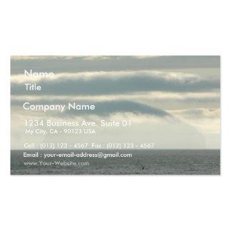 Strange Island In Fog Pack Of Standard Business Cards
