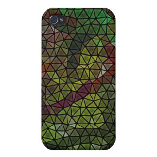 Strange mosaic pern case for iPhone 4