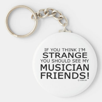 Strange Musician Friends Basic Round Button Key Ring