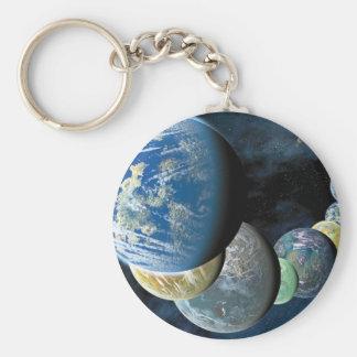 Strange New Worlds Basic Round Button Key Ring