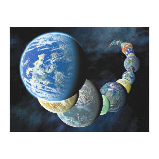 Strange New Worlds Stretched Canvas Print