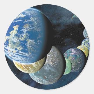 Strange New Worlds Round Sticker
