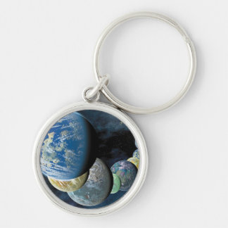 Strange New Worlds Silver-Colored Round Key Ring