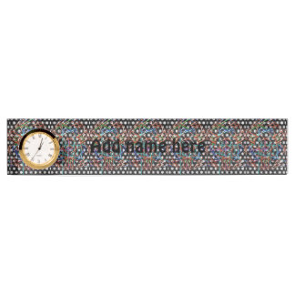 Strange pattern name plate