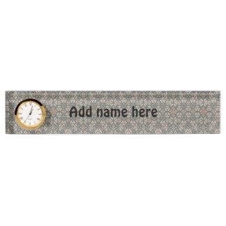Strange pattern nameplate