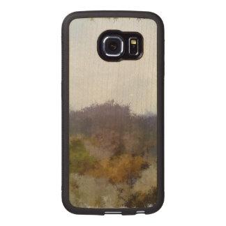 Strange unique landscape wood phone case