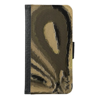 strange unique pattern samsung galaxy s6 wallet case