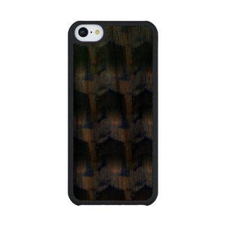 Strange unique pattern walnut iPhone 5C slim case