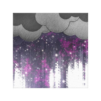 Strange Weather, Space Storm Stretched Canvas Print