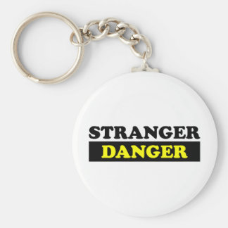 Stranger Danger Basic Round Button Key Ring