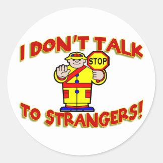 Stranger Danger Classic Round Sticker