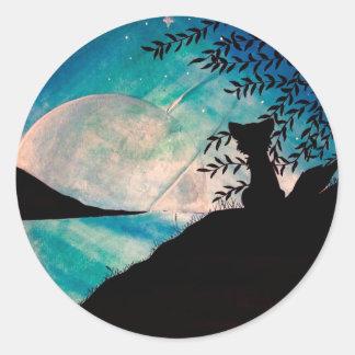 Stranger on this planet round sticker