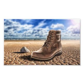 Strangers boot photo print