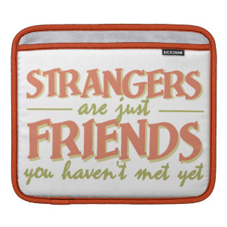 STRANGERS / FRIENDS custom laptop / iPad sleeve