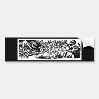 """""""Strangler Calaveras"""" circa 1942 MEXICO Car Bumper Sticker"""