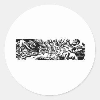 """""""Strangler Calaveras"""" circa 1942 MEXICO Round Sticker"""