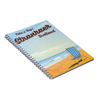 Stranraer Scotland vintage travel poster Notebook
