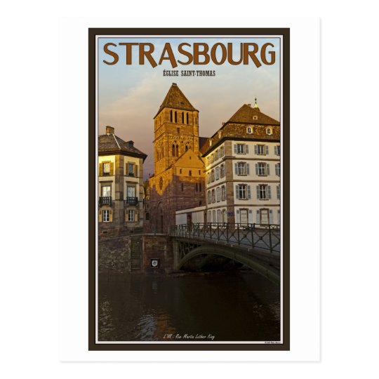 Strasboug - Ill River and St Thomas Postcard