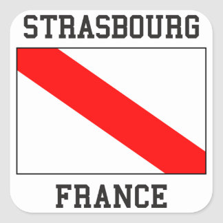Strasbourg France Square Sticker