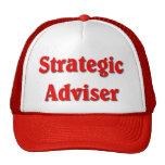 Strategic Adviser Red Print Polica Humour Cap