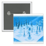 Strategic Chess Play Pin
