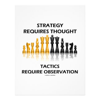 Strategy Requires Thought Tactics Observation Flyer