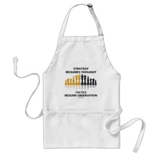 Strategy Requires Thought Tactics Observation Standard Apron