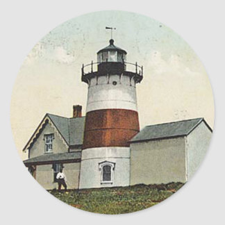 Stratford Point Lighthouse Classic Round Sticker