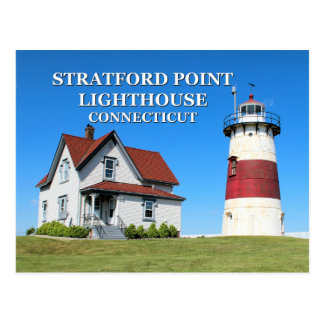 Stratford Point Lighthouse, Connecticut Postcard