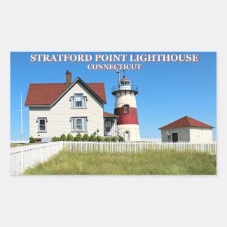 Stratford Point Lighthouse, Connecticut Rectangular Sticker