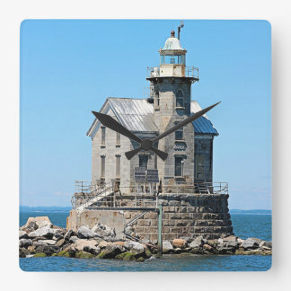 Stratford Shoal Lighthouse, Connecticut Square Wall Clock