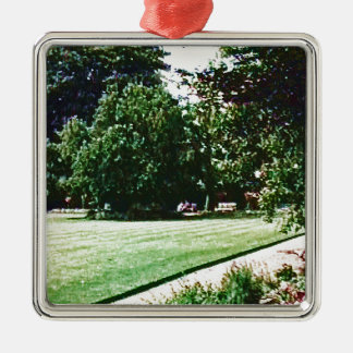 Stratford-upon-Avon England Garden snap-28838 jGib Silver-Colored Square Decoration