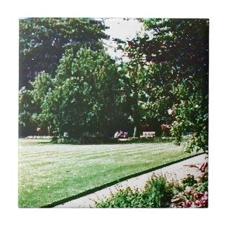 Stratford-upon-Avon England Garden snap-28838 jGib Small Square Tile