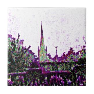 Stratford-upon-Avon England Purple Garden jGibney Small Square Tile