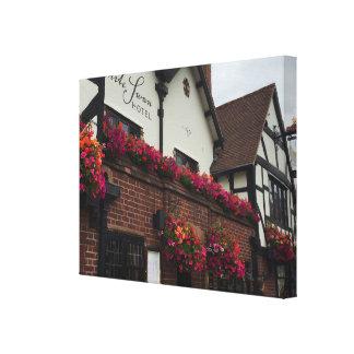 Stratford Upon Avon England UK Tudor Hotel Photo Canvas Print