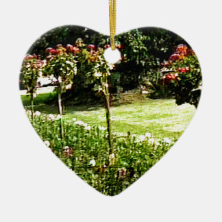 Stratford-upon-Avon Garden Rose snap-29602 jGibney Ceramic Heart Decoration