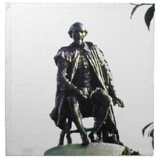 Stratford-upon-Avon Shakespeare Statue jGibney Cloth Napkin