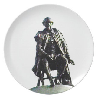 Stratford-upon-Avon Shakespeare Statue jGibney Plate