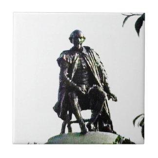 Stratford-upon-Avon Shakespeare Statue jGibney Small Square Tile